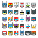 MTMTE chara badges / magnets by Crono8