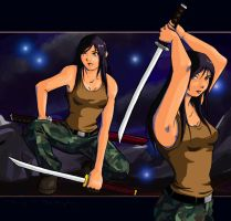 Katana Girl -coloured- by Zias