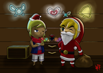 Christmas with Link and Tetra by Heroine-of-Time-7