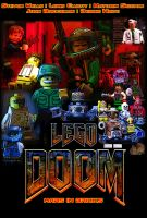 LEGO DOOM MARS IN BRICKS POSTER by Digger318
