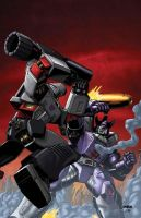 Megatron vs. Galvatron by Dan-the-artguy