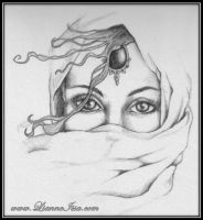 girl behind Veil by Lianne-Issa