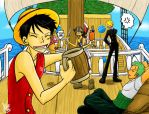 One Piece - Luffy says PARTY by Sanogirl