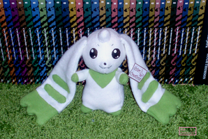 Terriermon plush by Ishtar-Creations
