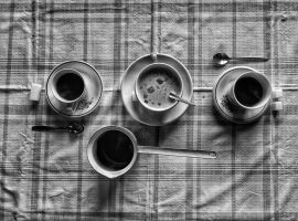 Sunday black and white coffee by NagyFog