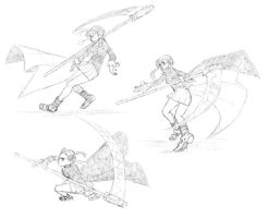 Maka Action Sketches by Jazzie560