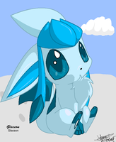 Chibi Glaceon by Freeze-pop88