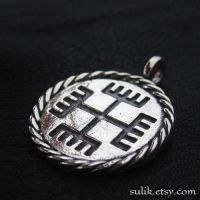 Silver Hands of God pendant by Sulislaw