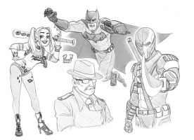 Batman DCEU sketches by pencilHead7