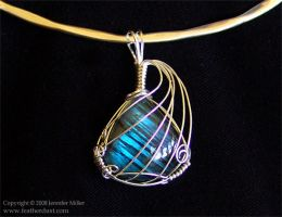 Blue Striations Labradorite by Nambroth