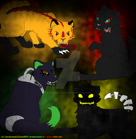 4 cats colored and finished by Carolynzy6125andBSP