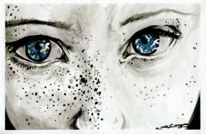 Eyes and Freckles: Color by JessicaCanvas