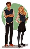 17 years old Sam and Ivy by RiTTa1310