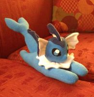 Small Vaporeon Plush 2.0 Another View by PakajunaTufty