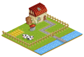 Pixel art farm by iCha-iCha-ParadiSe