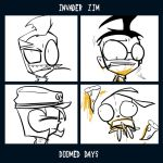 INVADER ZIM GORILLAZ MADNESS -lineart- by n33rrx