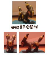 Umbreon Sculpture by samuelnff