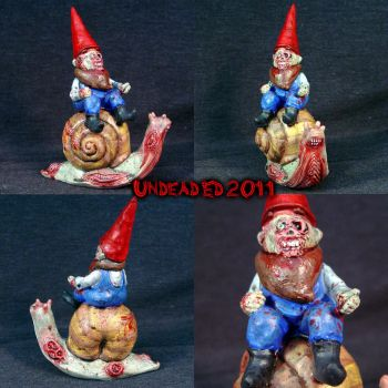 Zombie Gnome riding on a Zombi by Undead-Art