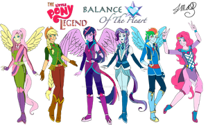 The Little Pony Legend The Mane Six by MaggiesHeartLove