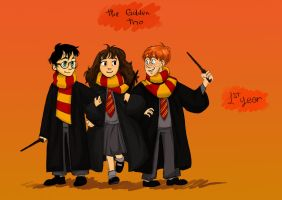 The Golden Trio by Alchiba