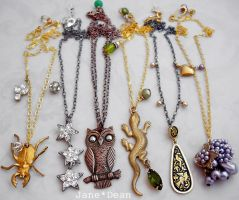 Vintage component necklaces by janedean