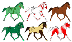 Christmas Adoptables {Closed} by Shadowed-Adoptables