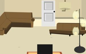 Ellen's Room- Living Room (View B) by TattleTaylor