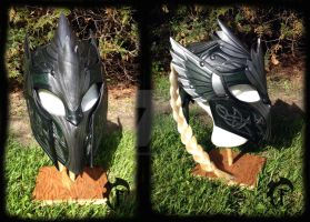 Elvish leather helmet by Feral-Workshop