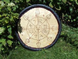 Wooden shield by LeTrefle