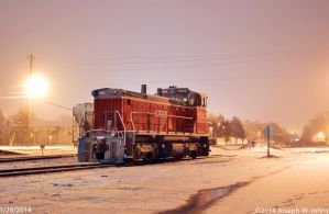 1543 in the snow by Joseph-W-Johns