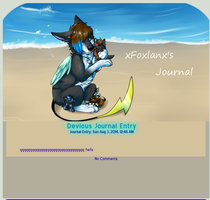 xFoxlanx Journal commission by Wolfvids
