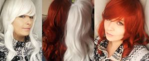 2 wigs  for Rogue by Lightninglouise