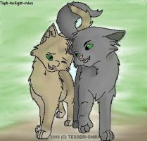 Graystripe and Millie by toph-twilight-rules