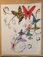 Butterfly Tattoo Design by coyote117