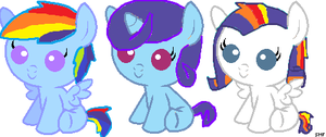 rarity X rainbow dash adopts open 2/3 by XxborealisnekoxX