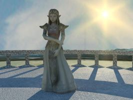 Zelda on the Veranda by DarklordIIID