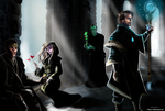 Mages in the College of Winterhold by ChloexBowie