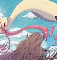 Milotic appears by YOUTA-RU