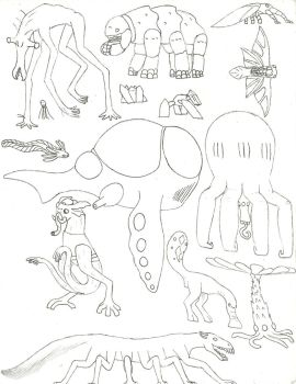 Sketches for a Children's Book by Aliencon
