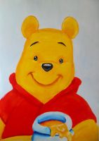 Winnie the pooh acrylic practice by VisualArt93