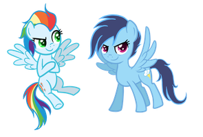 If Rainbow Dash and Soarin had Kids by TheCheeseburger