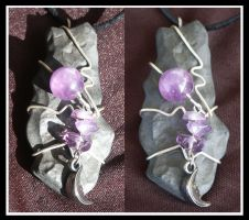 Amethyst Moon Pendant by AmbersCrystals