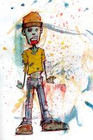 zombie doodle kid by BYRONvonREMPEL