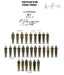 PIXEL ART TOOLS- VIETNAM WAR by Milosh--Andrich