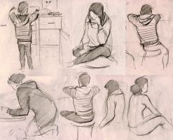 People sketches by AnnaAkinina