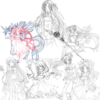 Sketches WIps by Jau-chan