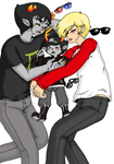 Homestuck - Sollux x Dave + Dammek family nap by Cloud-Kitsune