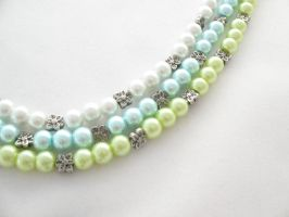 Triple Strand Necklace by MoonlightCraft