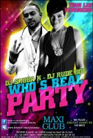 Who's Real Party flyer by gar21nett