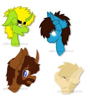 Various Head Doodles by Spitfire-SOS